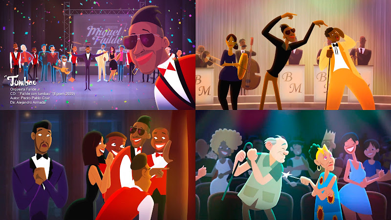 Orquesta Miguel Failde - ¨Tumbao¨ - Videoclip / Dibujo Animado - Director: Alejandro Armada. Portal Del Vídeo Clip Cubano