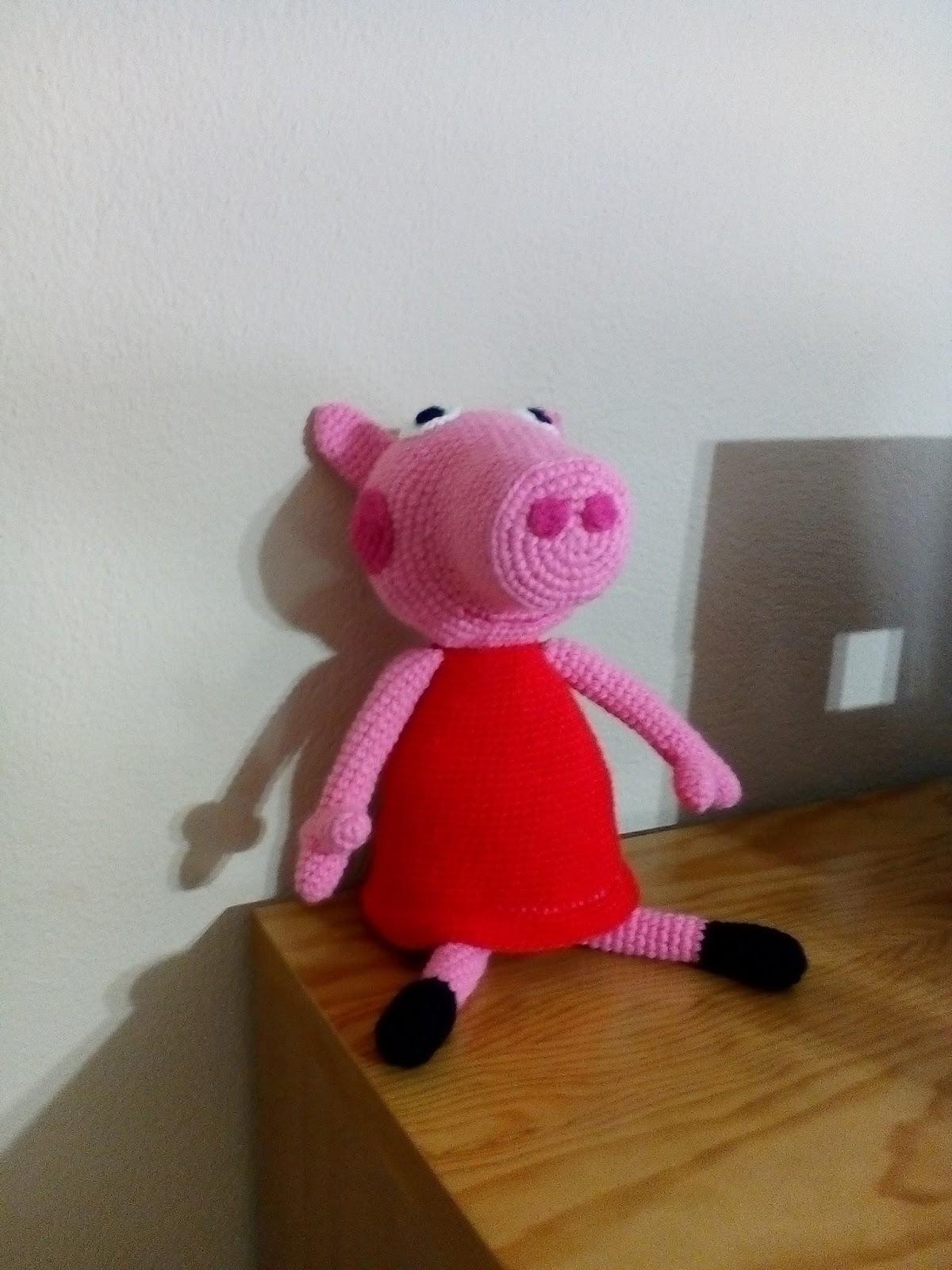 Patrón AMIGURIMI Gratis de Peppa Pig | 1600x1200