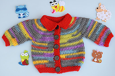 5 - Crochet Imagen Chaqueta a crochet para niño niña muy fácil y rápido por Majovel Crochet