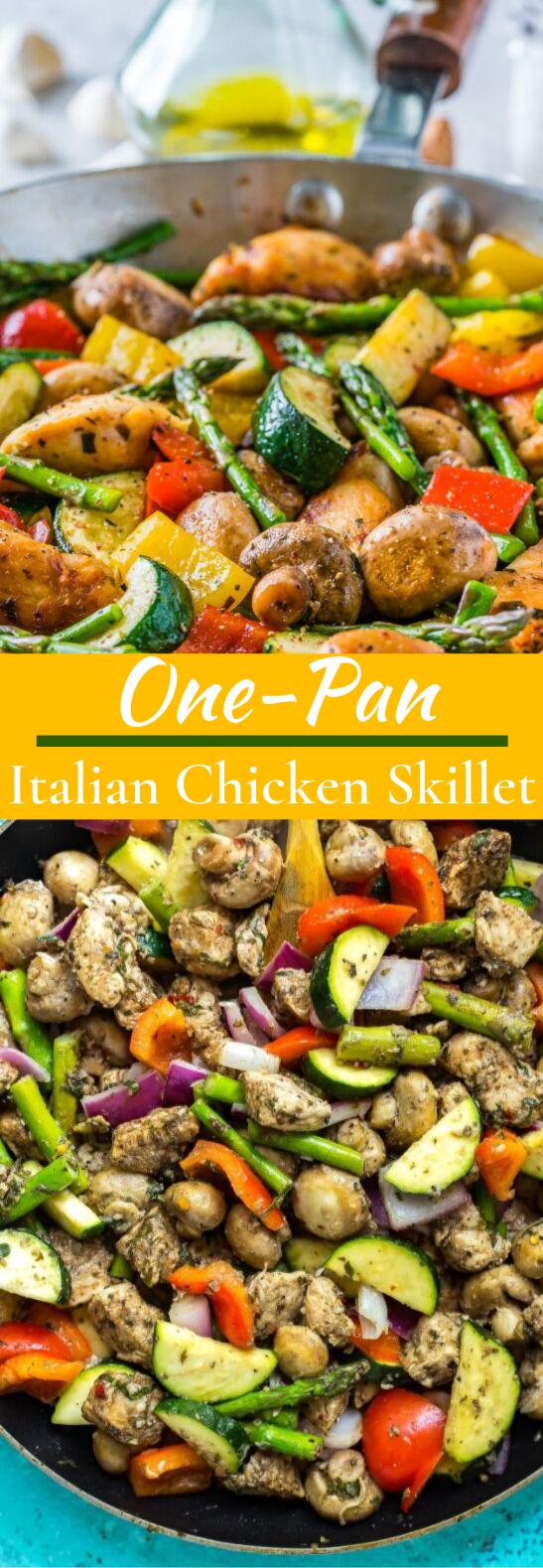 One Pan Italian Chicken Skillet #healthy #glutenfree