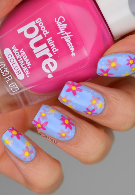 Flower Nail Art with Sally Hansen Pure