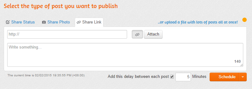 type of post to publish