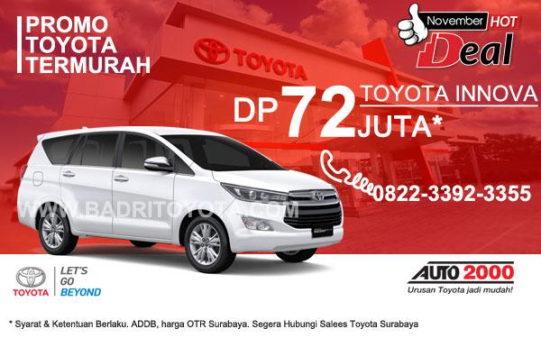 Paket Keren Innova DP 72 Juta, Promo Toyota Surabaya