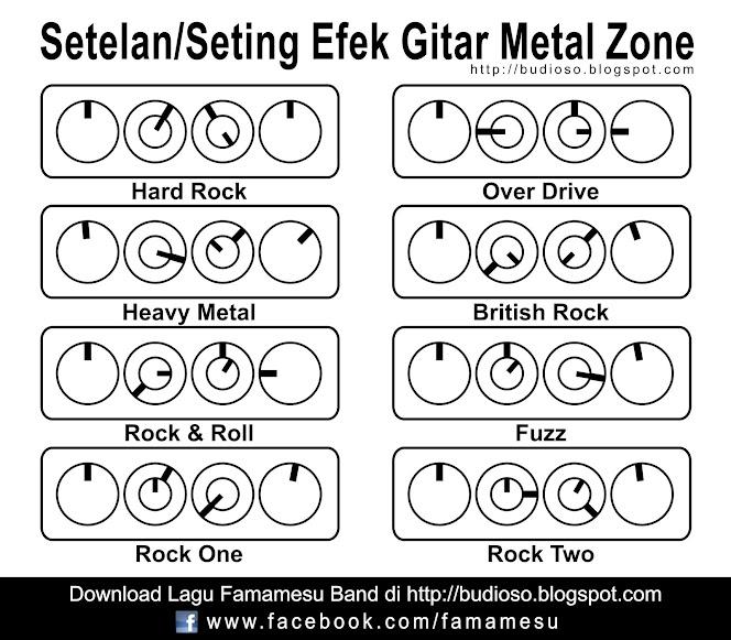 Setelan seting efek gitar metal zone