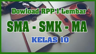 RPP 1 Lembar Bahasa Inggris Peminatan Kelas X Kurikulum 2013 Tahun 2013