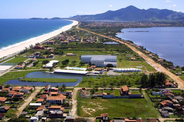 Vista aérea do Centro de Desenvolvimento do Voleibol (CDV), em Saqurema