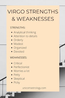 Virgo zodiac sign strengths and weaknesses