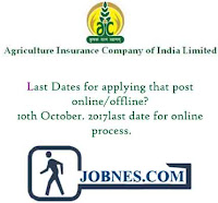 Agriculture Insurance Company of India Limited Recruitment 2017 for 50 various posts  apply online here