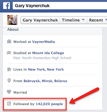 Facebook Profile Followers Proof