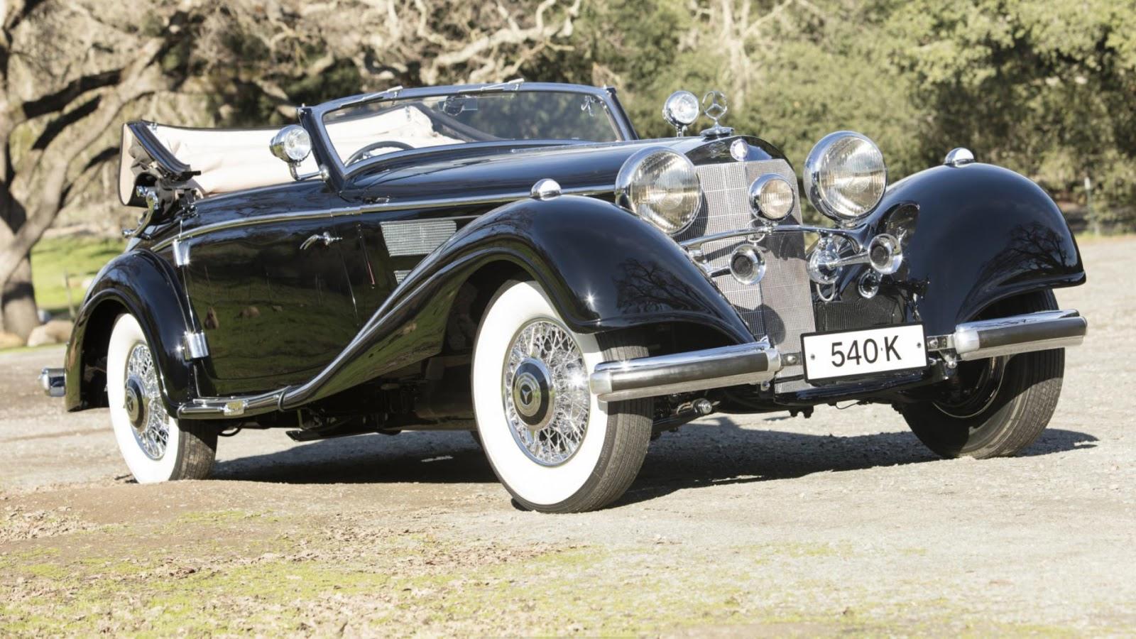 1937 Mercedes-Benz 540K Cabriolet A: $2,970,000