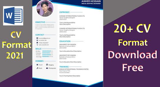 latest resume format 2021, latest cv format 2021