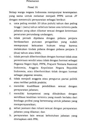 Syarat-syarat untuk Melamar Menjadi PPPK Berdasarkan PP Nomor 49 Tahun 2018