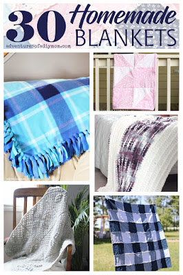 collage of homemade blankets.