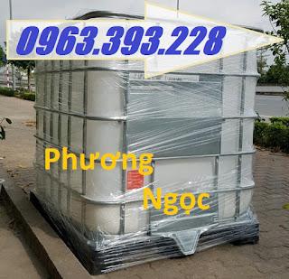 Tank nhựa IBC 1000L nhập khẩu, bồn nhựa 1 khối đựng hóa chất, bồn nhựa có khung  2868fde38e226c7c3533