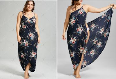 vestido de flores para la playa en tallas grandes