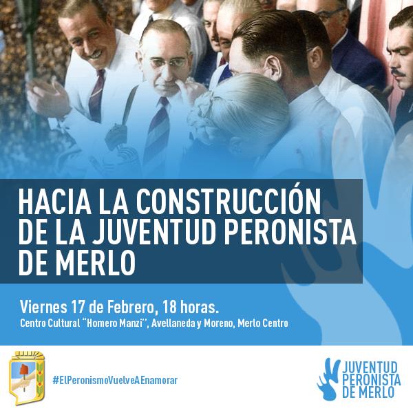 Flyer para Juventud Peronista de Merlo