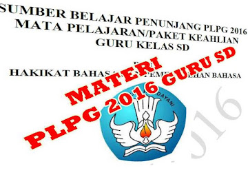 Unduh Materi PLPG Sertifikasi 2016 Guru Sekolah Dasar