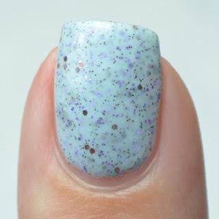 pale blue crelly nail polish