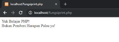 Perbedaan Antara Fungsi echo(), print(), dan printf() di PHP