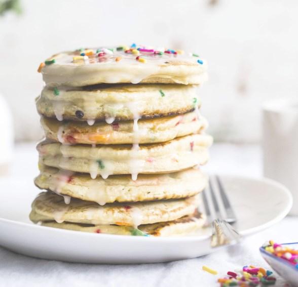 CAKE BATTER PANCAKES #dessert #sweets