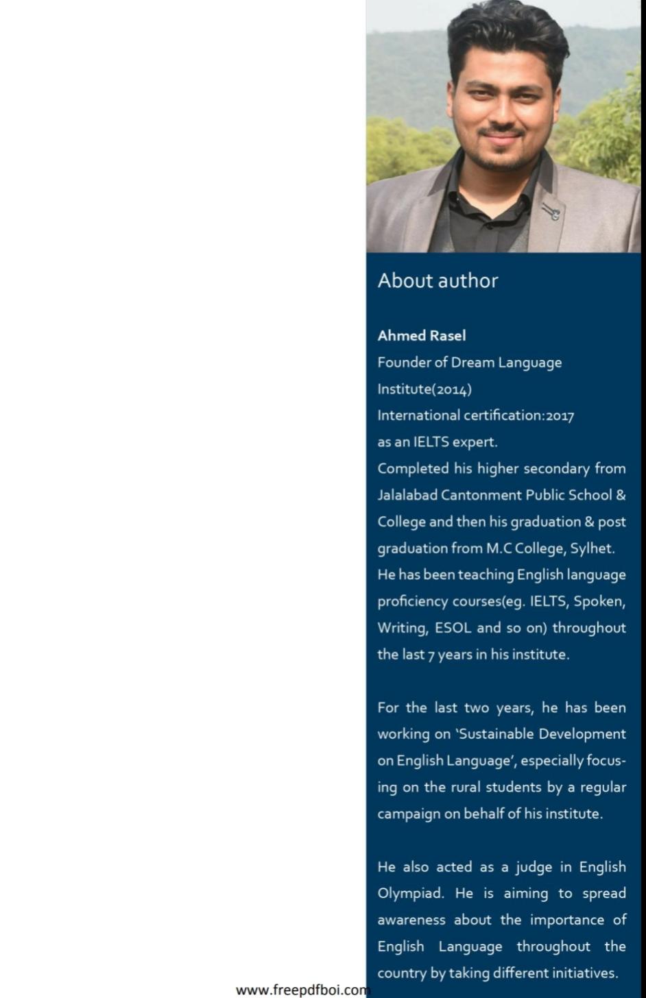 ইজি এন্ড স্মার্ট স্পোকেন ইংলিশ -  আহমেদ রাসেল PDF Book Free Download