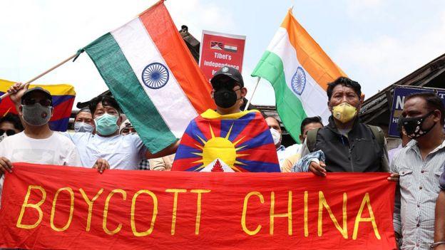 Protestos contra a China