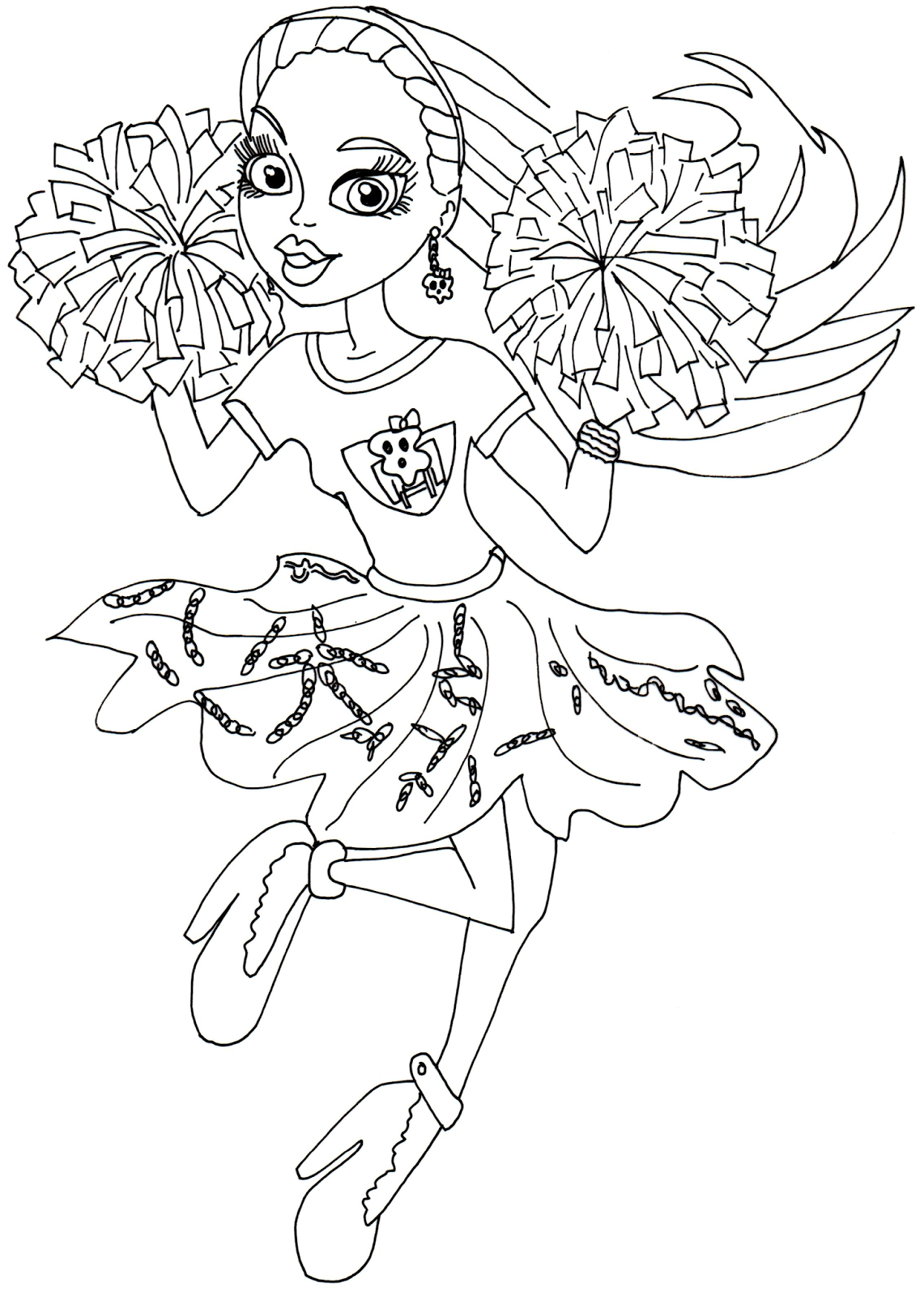 Free Printable Monster High Coloring Pages: Spectra