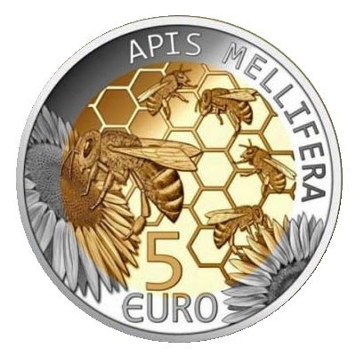 MONEDA DE LUXEMBURGO CON ABEJA - LUXEMBOURG COIN WITH BEE.