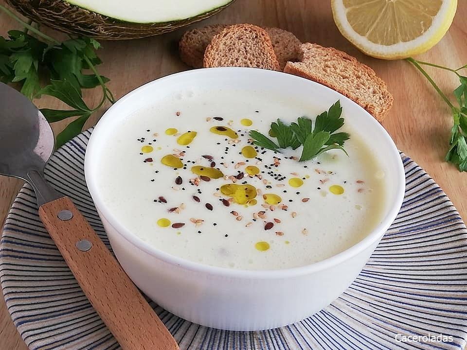 Sopa fría de melón y pepino