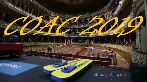 Listado de Agrupaciones inscritas COAC 2019: Cuartetos, Coros y Chirigotas