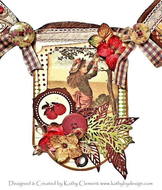 Apple Pickin' Season Banner by Kathy Clement for Really Reasonable Ribbon