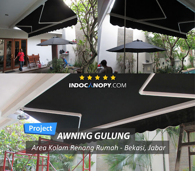 black awning retractable