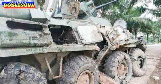 FARC convirtió en chatarra un tanque ruso de las FANB y mató a dos militares chavistas
