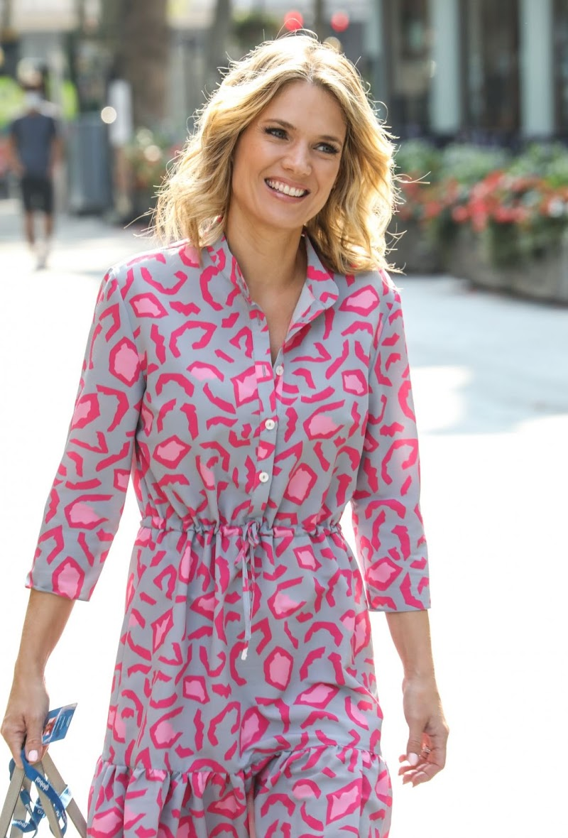 Charlotte Hawkins Spotted at Global Offices in London 13 Aug -2020