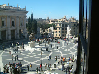 The beautiful Piazza del Campidoglio on the Capitoline Hill in the centre of Rome