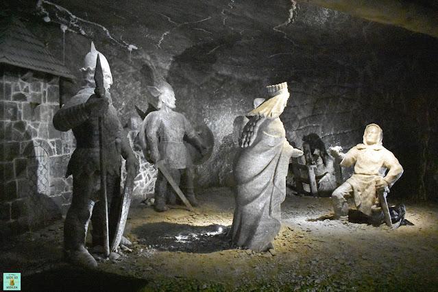 Estatuas de sal en las Minas de Wieliczka, Polonia