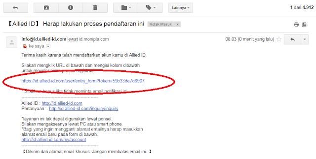cara daftar dari email disitus disurvey