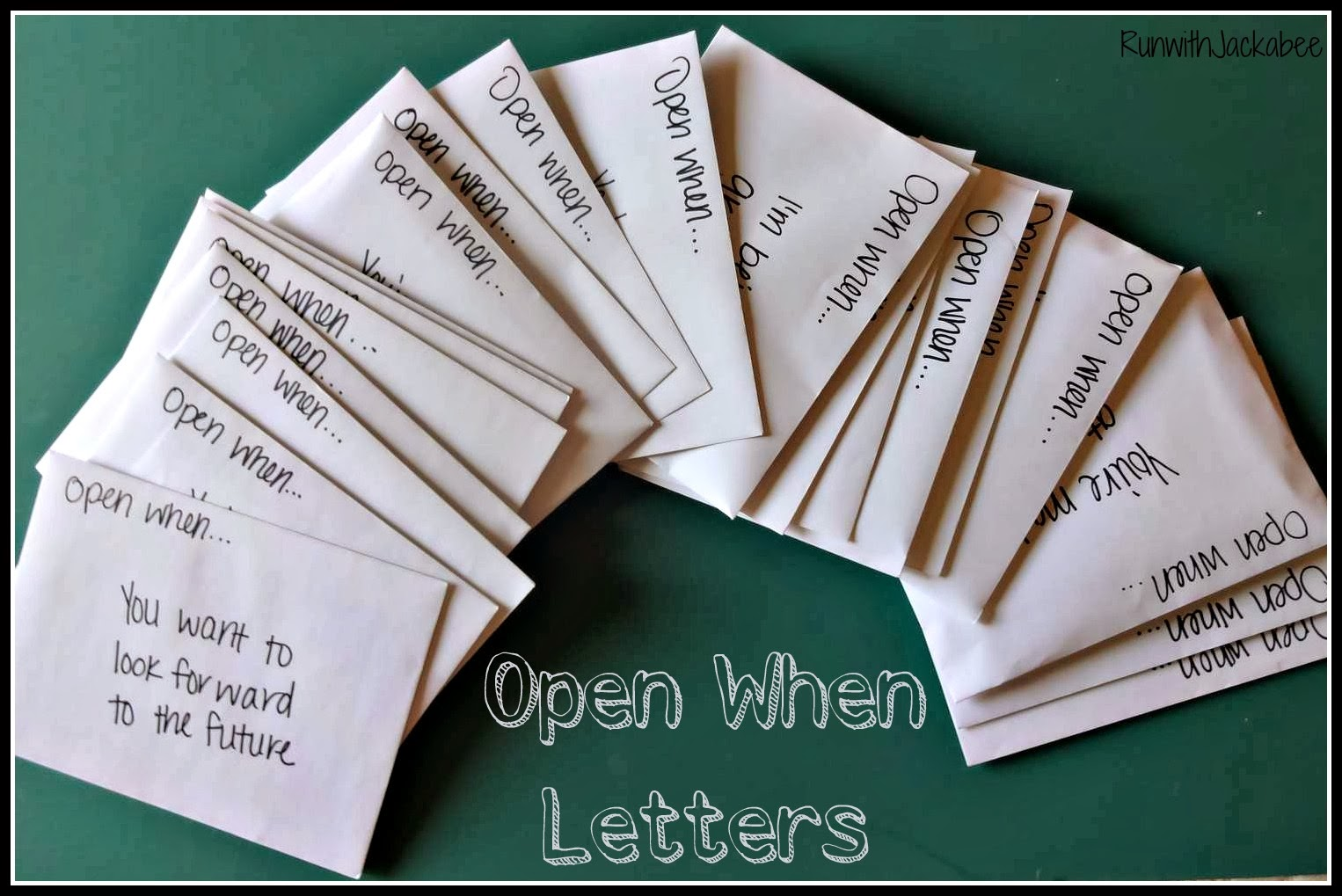RunwithJackabee: Open When.... Letters