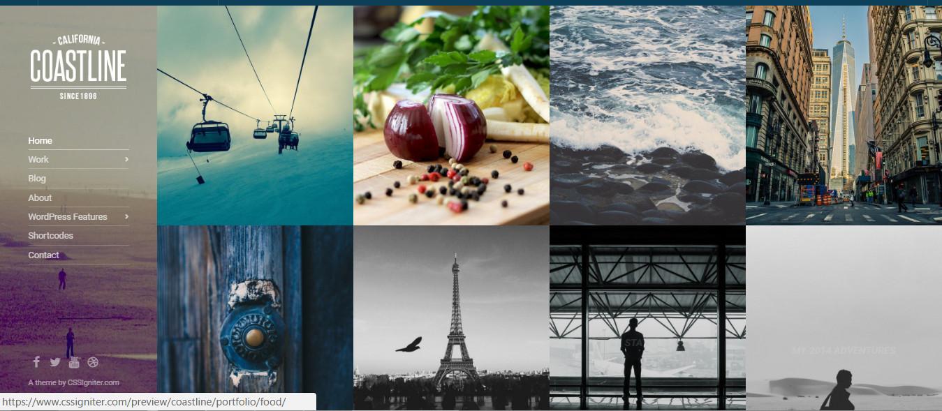 Coastline-Wordpress Portfolio Theme For Photography