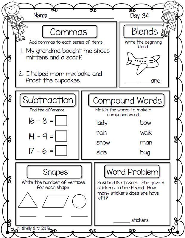 First Grade Math Worksheets