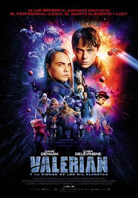 Póster de 'Valerian y la Ciudad de los Mil Planetas'