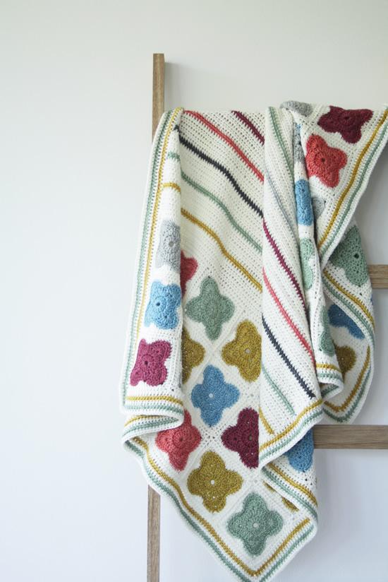 Orla Kiely inspired crochet blanket | Happy in Red