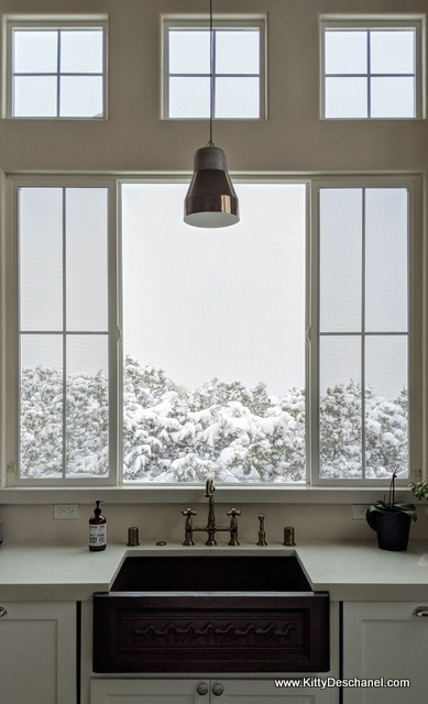 kitchen window with a view