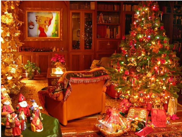 Betty Boop Navidad, foto sobre chimenea, crea tu fotomontaje de chimenea