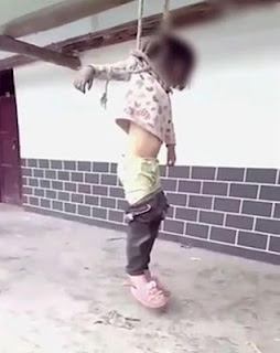 Little girl hanged outside home by her dad because she tore her parents