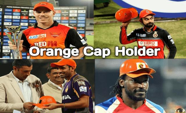 IPL Orange Cap Winners List for Season 2008 to 2017