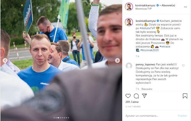 Zwolennik kandydatury Władysława Kosiniaka-Kamysza na wiecu wyborczym