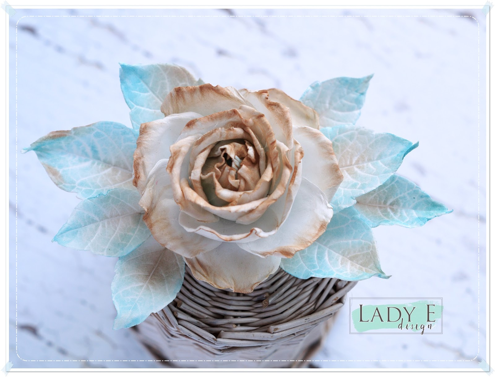Silk Foam Vintage Rose Scrap Art By Lady E
