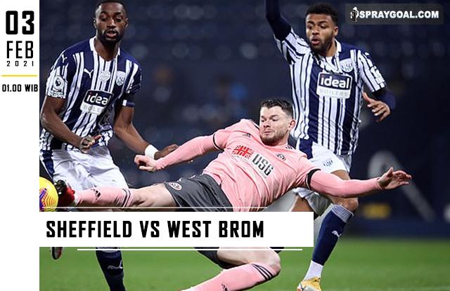 Prediksi Skor Sheffield Vs West Brom Rabu 3 Februari 2021
