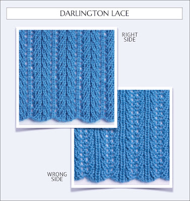 Darlington Lace from Reversible Knitting Stitches by Moira Ravenscroft & Anna Ravenscroft, Wyndlestraw Designs
